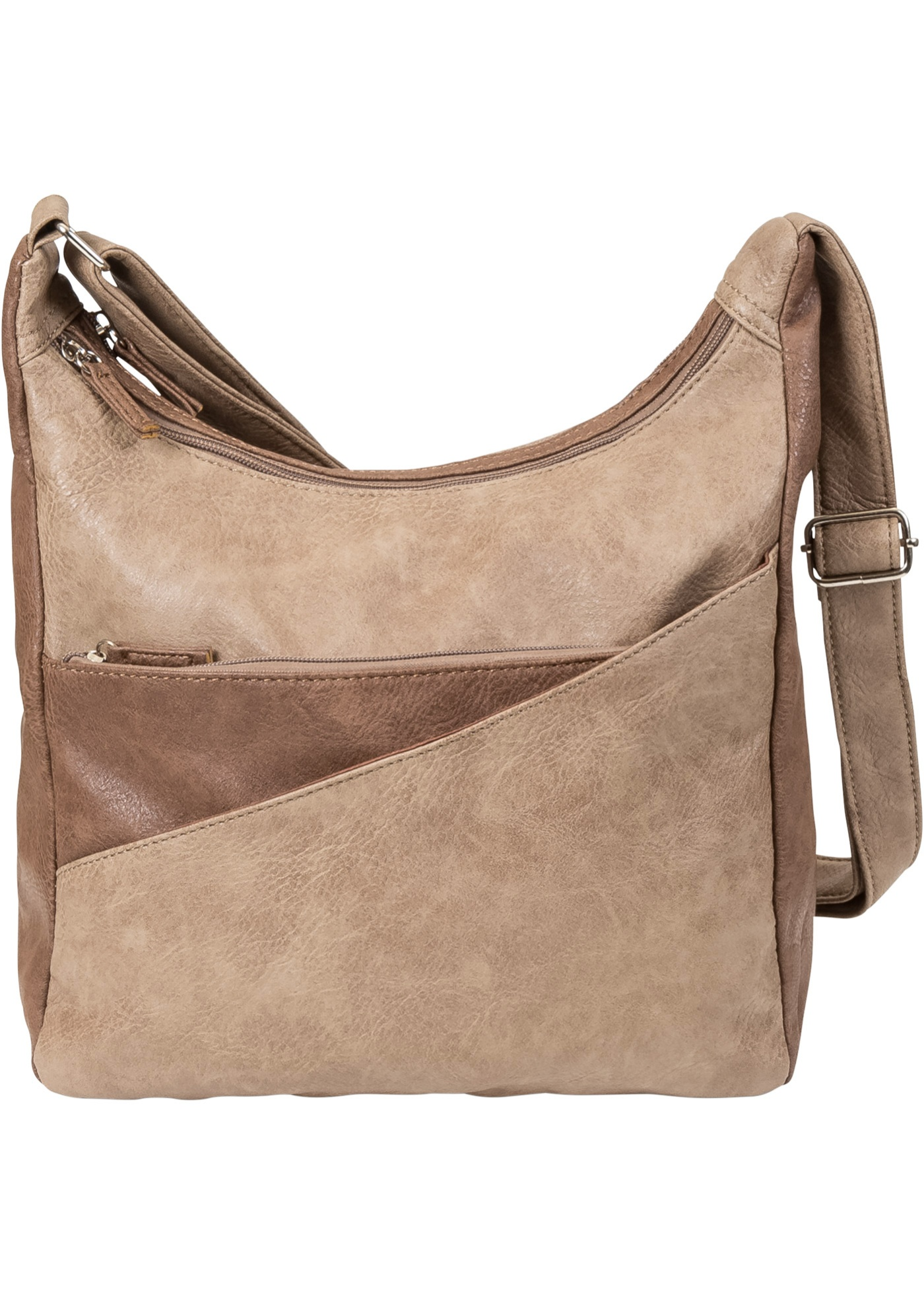 Borsa a tracolla Bicolor (Marrone) - bpc bonprix collection