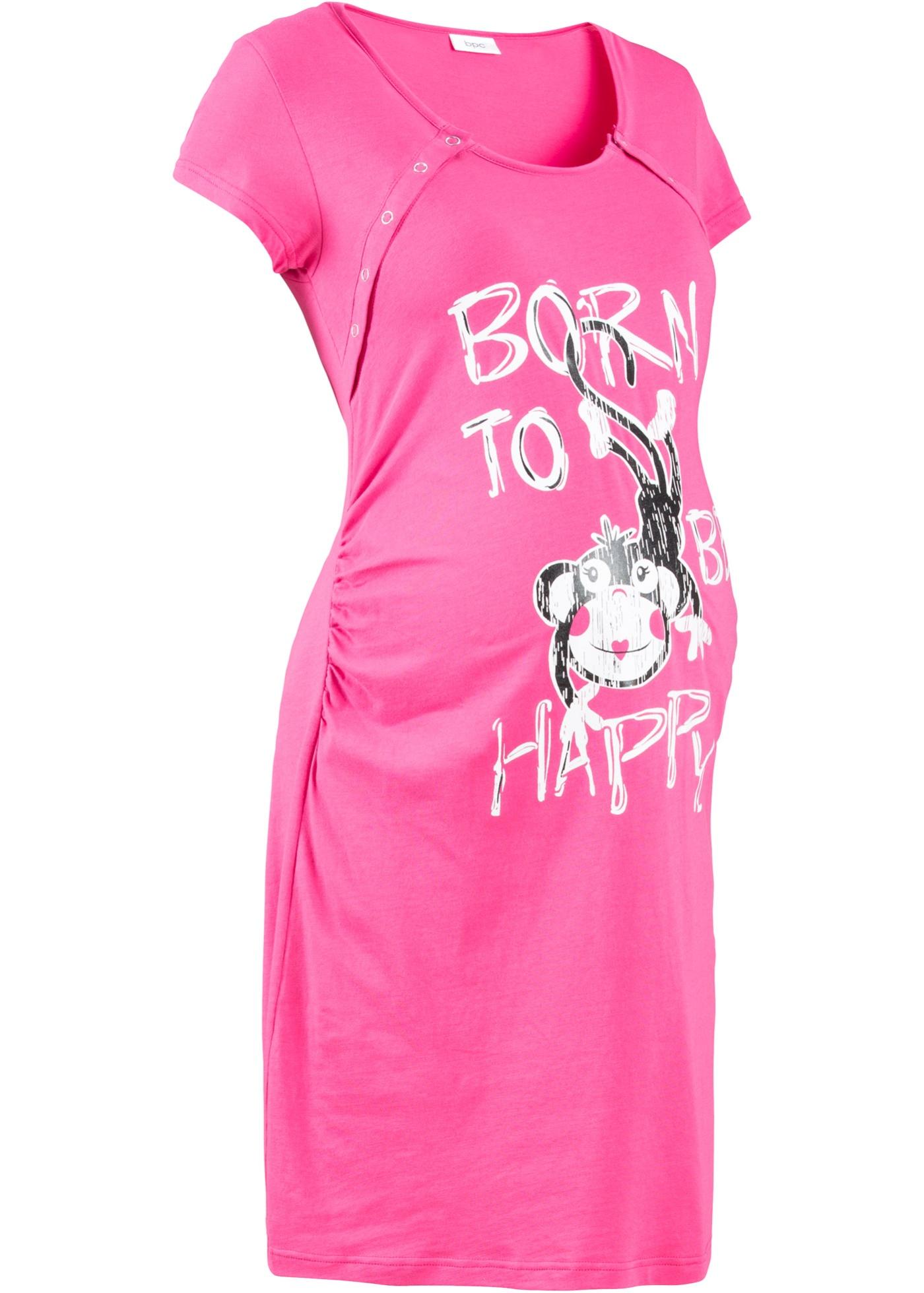 Camicia da notte per l'allattamento (Fucsia) - bpc bonprix collection - Nice Size