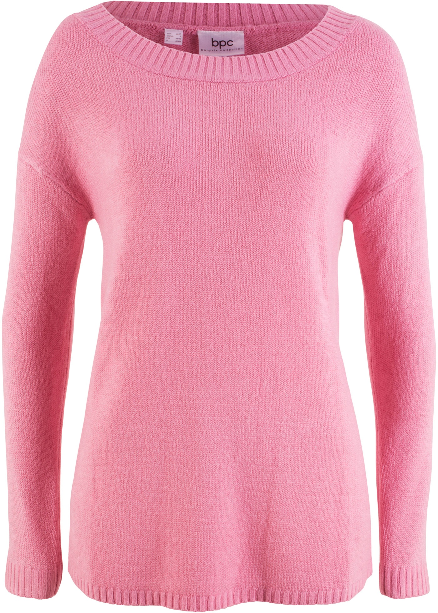 Pullover con scollo a barca (rosa) - bpc bonprix collection