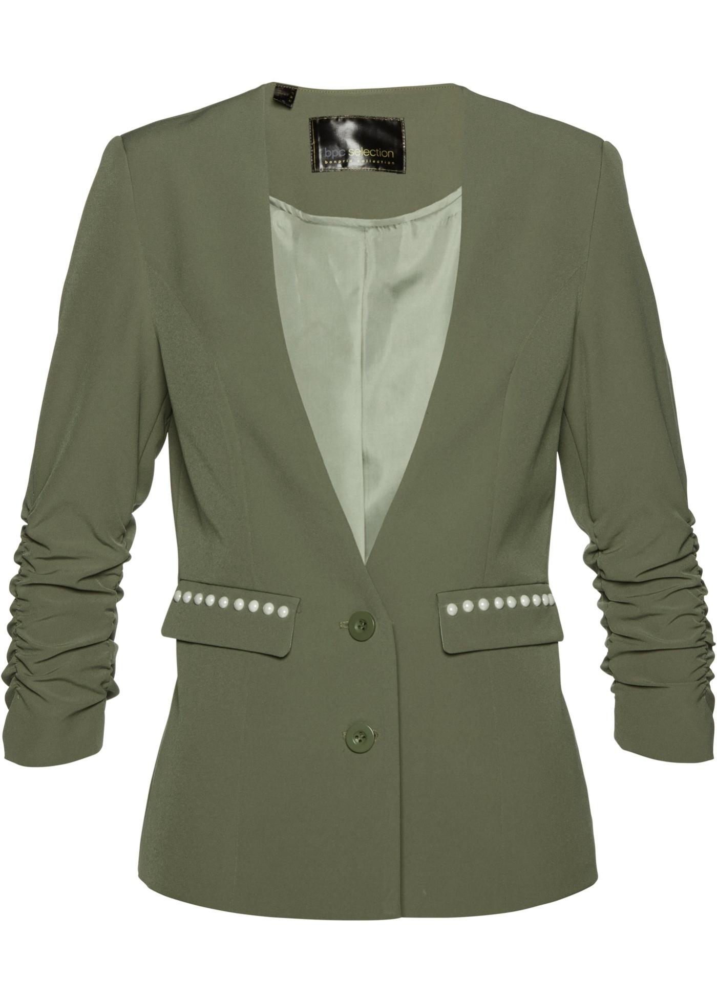 Blazer con maniche arricciate (Verde) - bpc selection