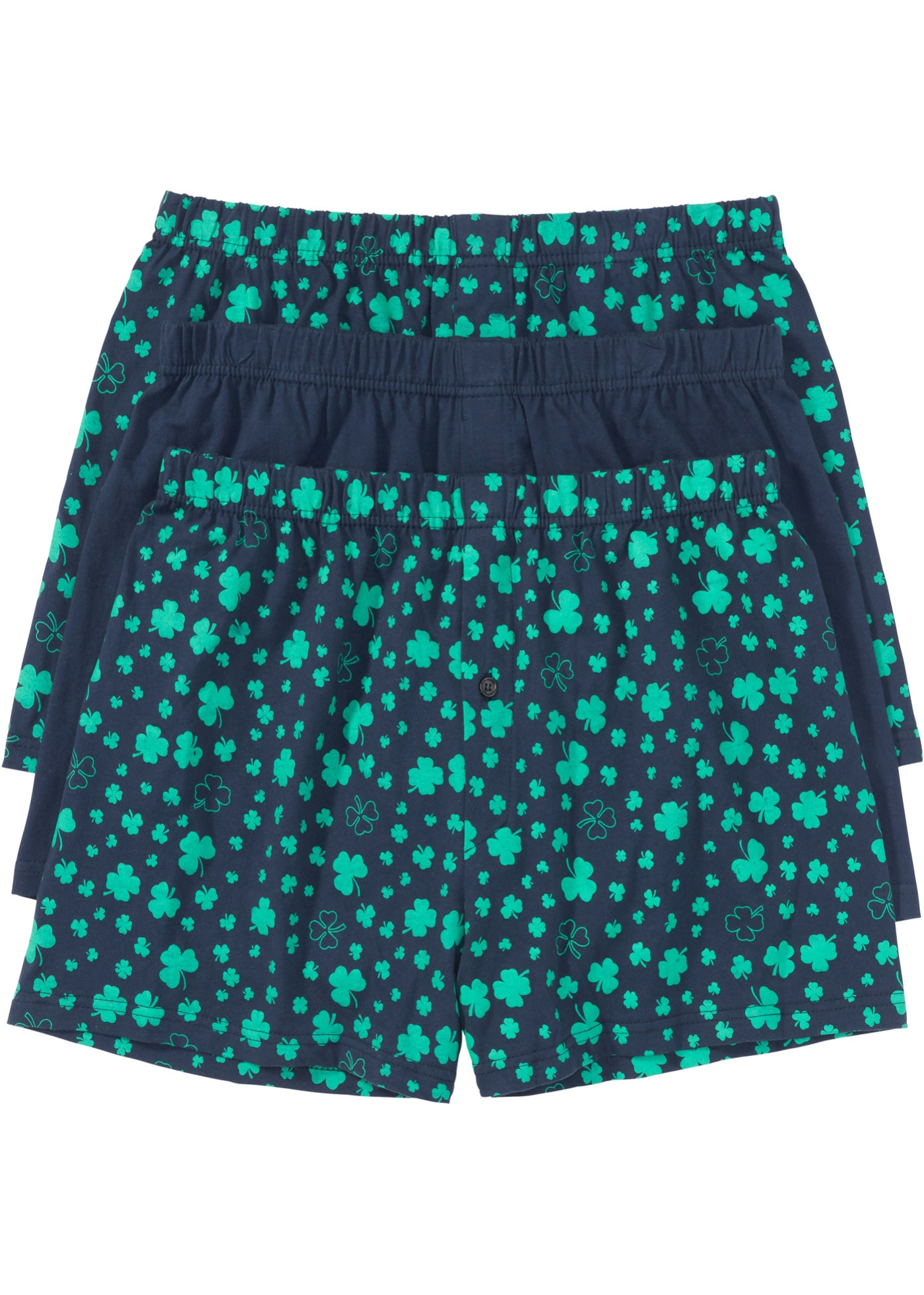 Boxer largo in jersey (pacco da 3) (Blu) - bpc bonprix collection