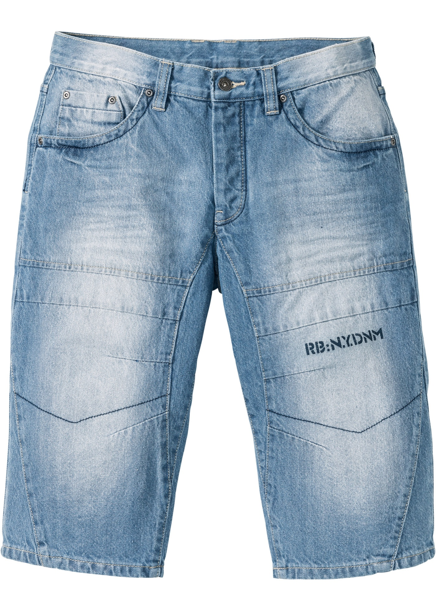 Bermuda lungo in jeans regular fit (Blu) - RAINBOW