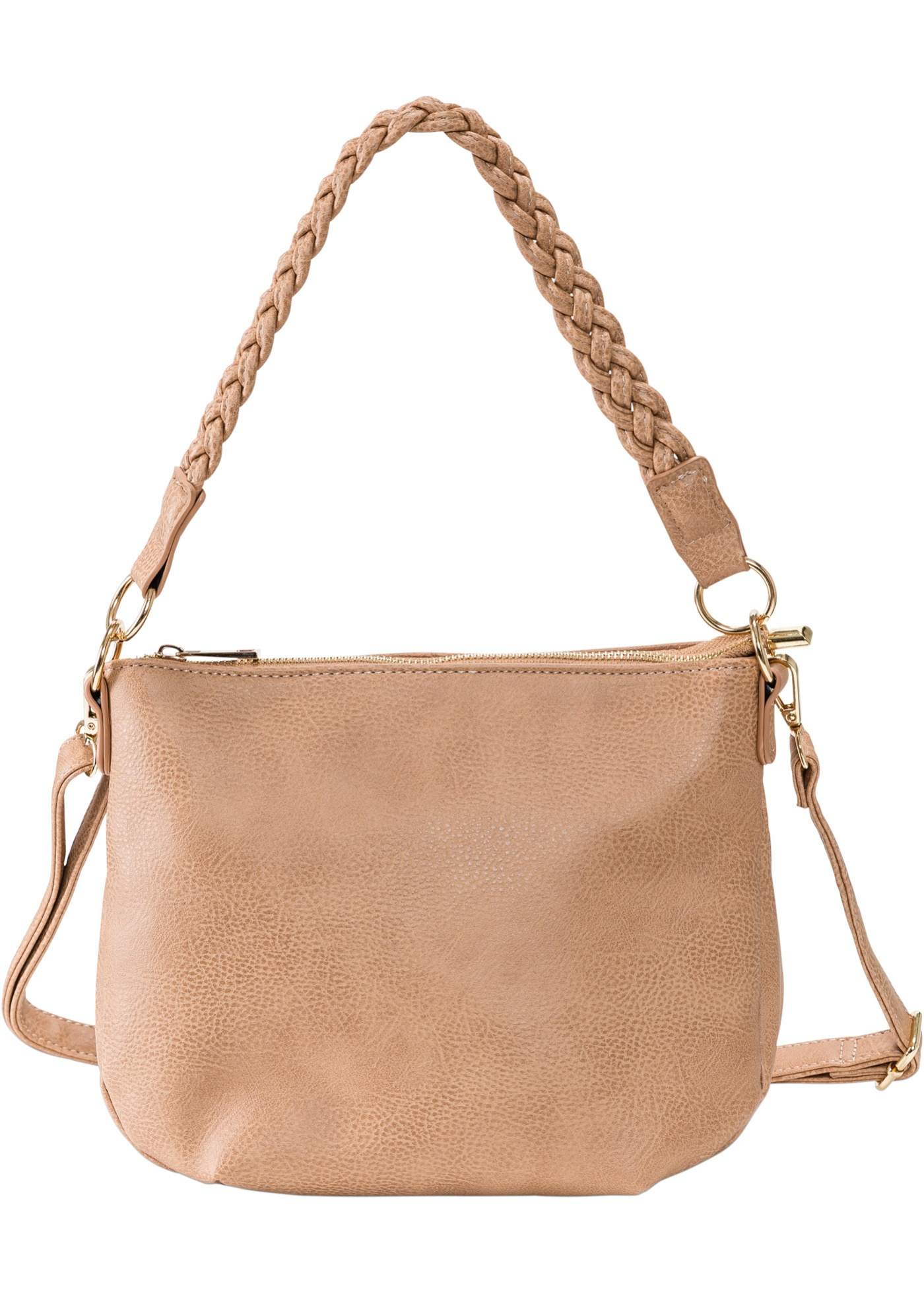 Borsa a tracolla con manico intrecciato (Marrone) - bpc bonprix collection