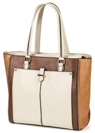 Borsa in stile business, bpc bonprix collection, Marroncino multicolore