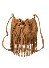 Borsa in pelle con frange, bpc bonprix collection, Bronzo