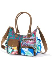 "Borsa a tracolla ""Patch"" medium, bpc bonprix collection, Marrone / rosso / blu fantasia"