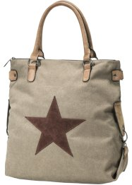 Borsa in canvas, bpc bonprix collection, Marrone
