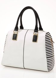 Borsa shopper, bpc bonprix collection, Crema / nero