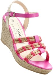 Sandalo con zeppa, bpc bonprix collection, Fucsia medio