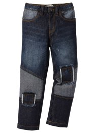 Jeans con toppe, John Baner JEANSWEAR, Nero stone used