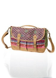 Borsa a tracolla multicolore, bpc bonprix collection, Marrone / rosso