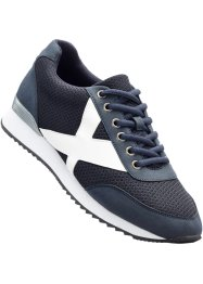 Sneaker, bpc bonprix collection, Blu / bianco