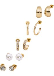 Set di orecchini (set 10 pezzi), bpc bonprix collection, Color oro
