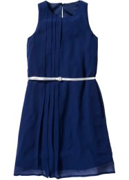 Abito in chiffon con cintura, bpc bonprix collection, Blu notte