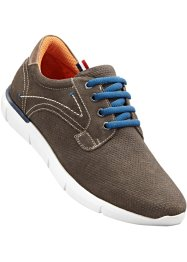 Scarpa bassa in pelle, bpc bonprix collection, Marrone