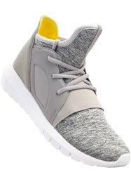 Sneaker, bpc bonprix collection, Grigio melange / giallo limone