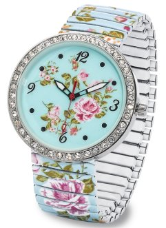 Orologio fantasia, bpc bonprix collection, Menta a fiori