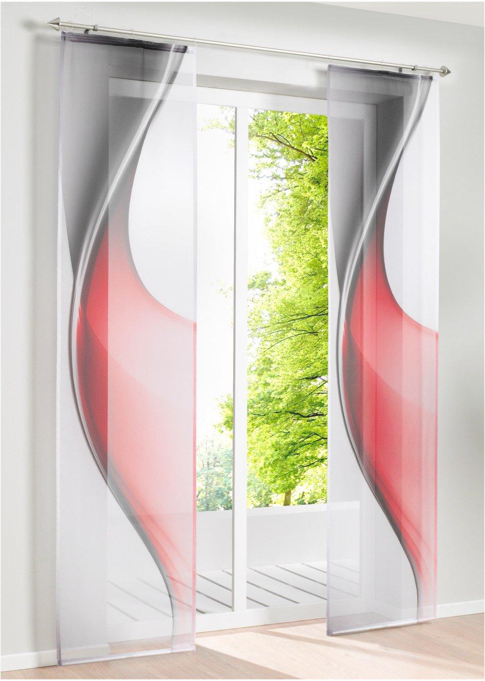 Tenda a pannello lia pacco da 1 rosso casa for Tende pannello moderne