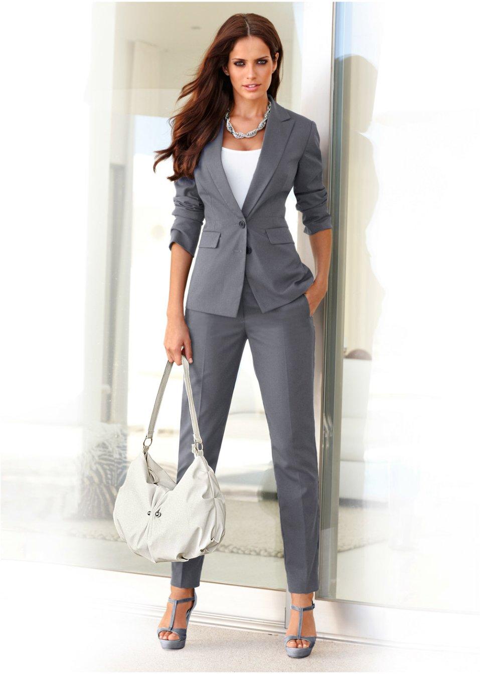 Matrimonio In Jeans E Giacca : Tailleur grigio bodyflirt bonprix