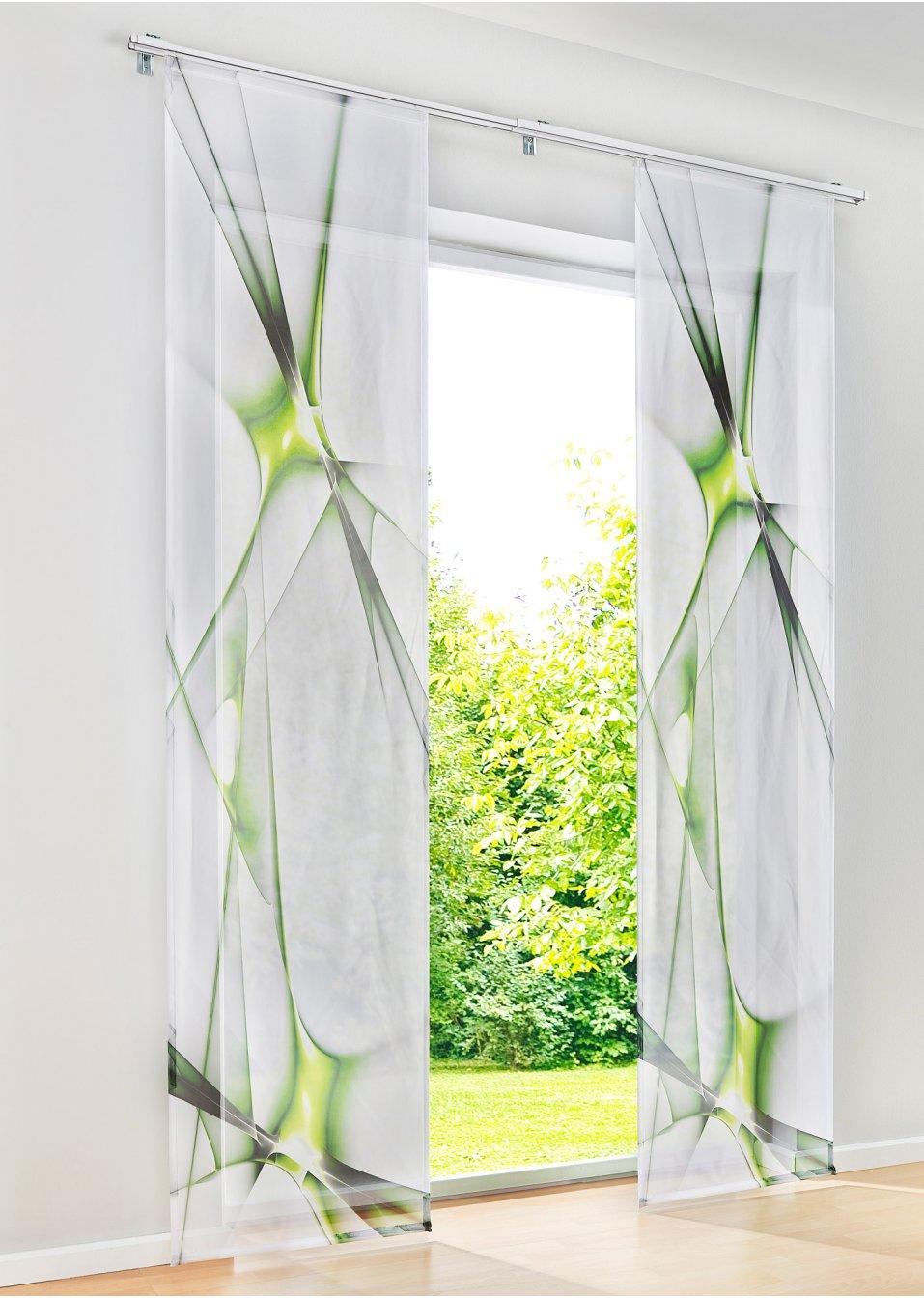 tenda a pannello franklin pacco da 1 verde bpc living. Black Bedroom Furniture Sets. Home Design Ideas