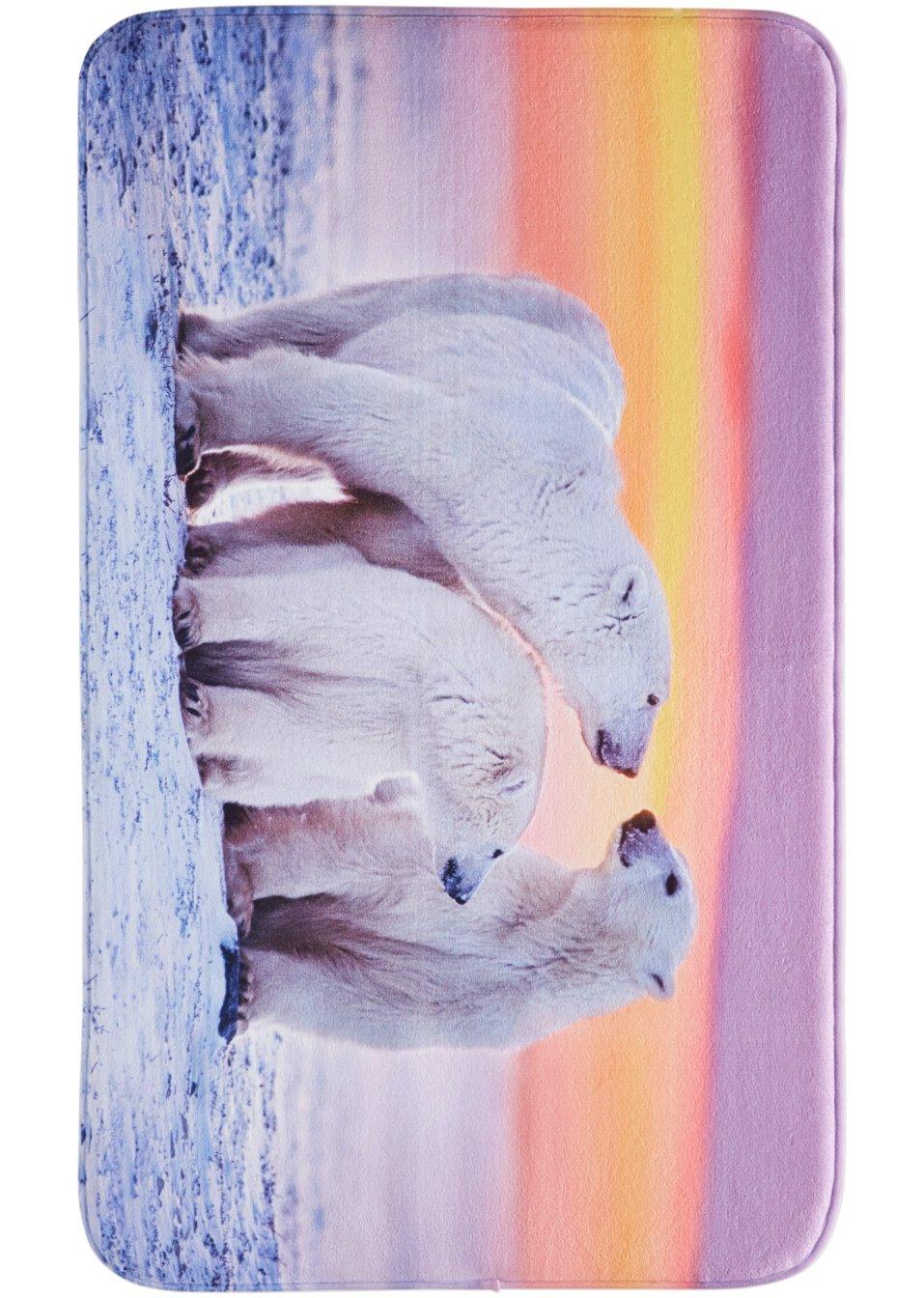 Tappetini per il bagno orso polare in memory foam grigio - Tappetini per il bagno ...
