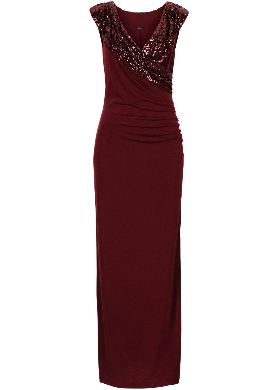 Abito da sera con decorazione in paillettes rosso - Abendkleider lang bonprix ...