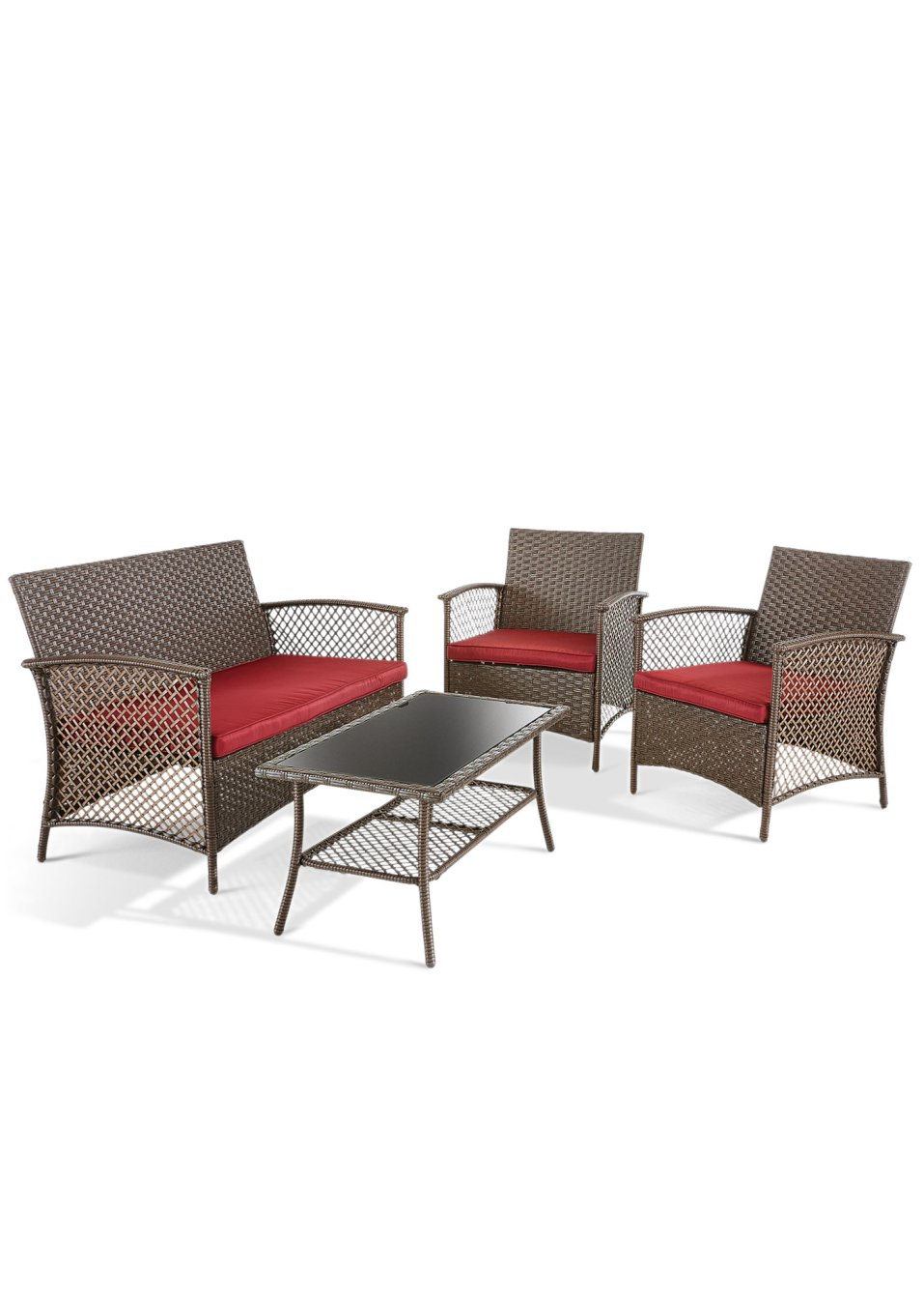 Mobili lounge arona st 7 pezzi marrone bpc living for Acquista mobili online
