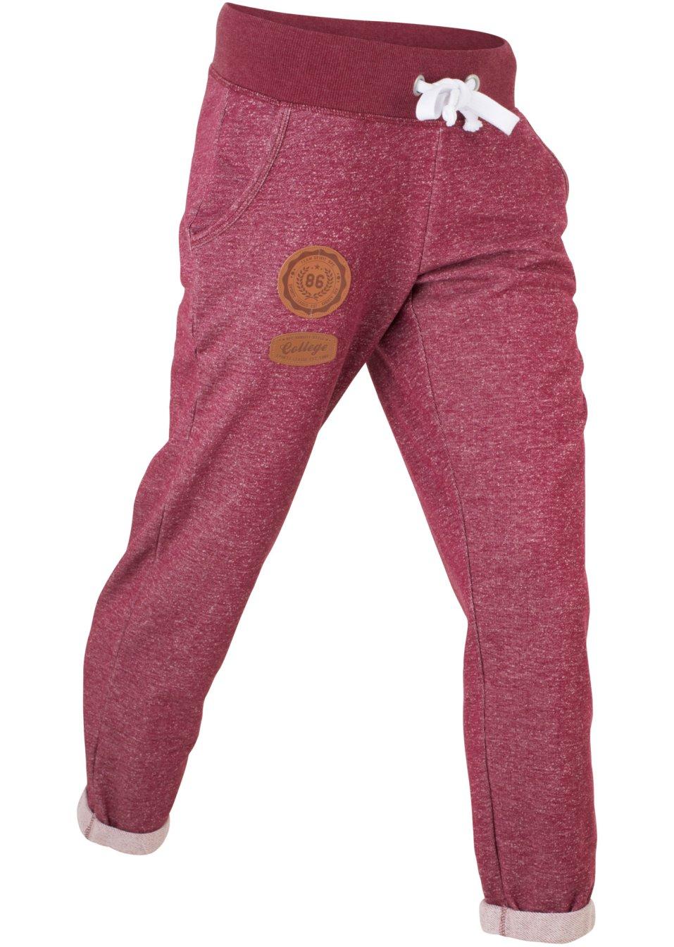 Confortevoli pantaloni in felpa con dettagli in similpelle - Rododendro prezzo ...